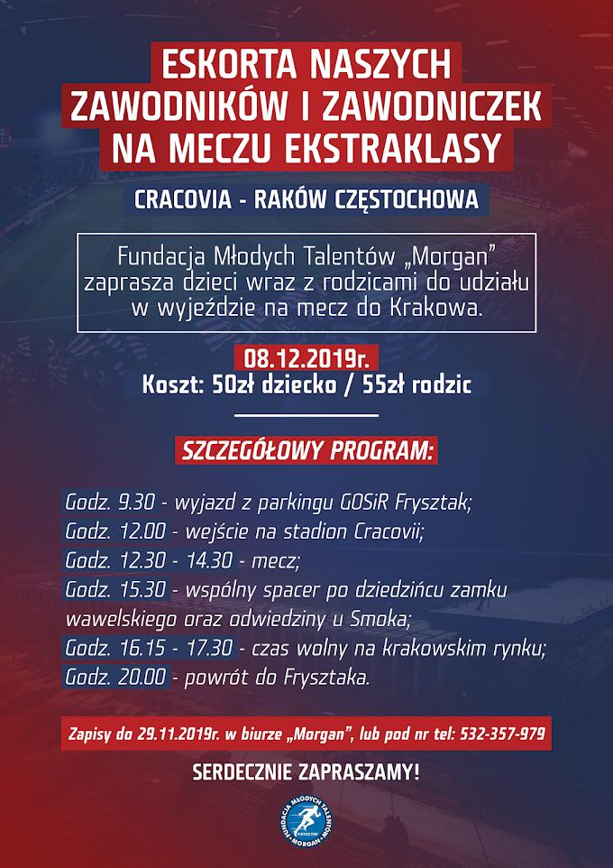 Eskorta zawodników i zawodniczek FMT Morgan na meczu Ekstraklasy!