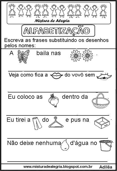 Frases Enigmáticas Para Alfabetização Imprimir E Colorir Mistura