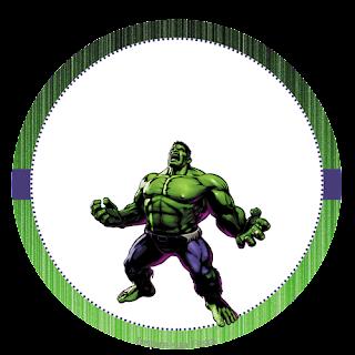 Toppers o Etiquetas de Fiesta del Increíble Hulk para imprimir gratis.