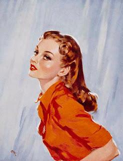 vintage art, David wright,pinup art,