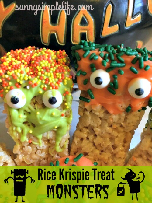 Rice krispie treats with eyes, Halloween desserts