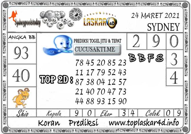 Prediksi Togel SYDNEY LASKAR4D 24 MARET 2021