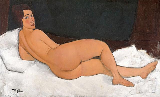 Amedeo Modigliani: Nudo sdraiato sul lato sinistro