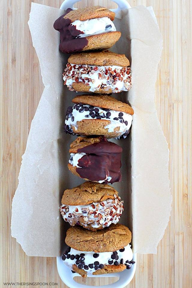 Ice Cream Cookie Sandwich Recipe with Topping Ideas