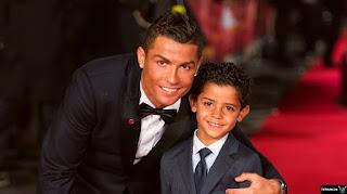رونالدو و ابنه جونيور