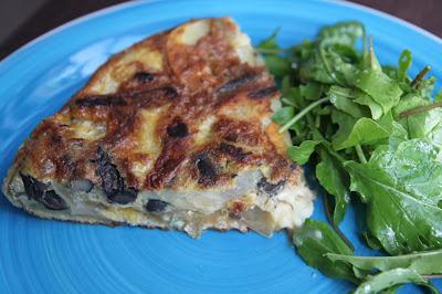 Tortilla z grzybami
