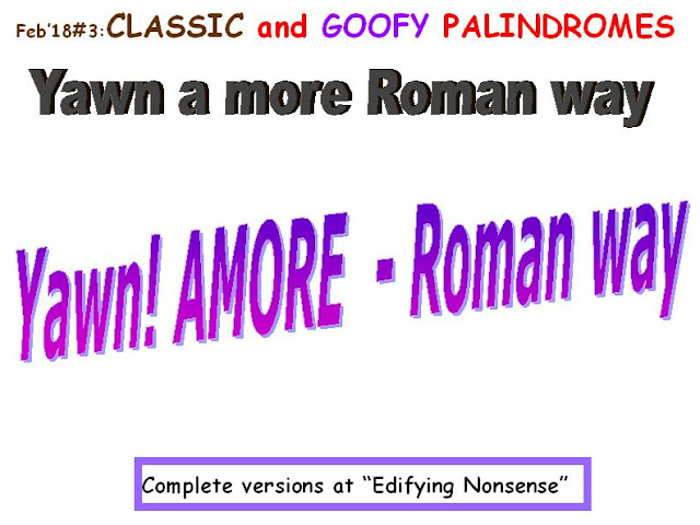 CLASSIC: Yawn a more Roman way.  GOOFY: Yawn! Amore, Roman way.