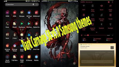 Download Dark Carnage S8 v5.0 Samsung theme apk