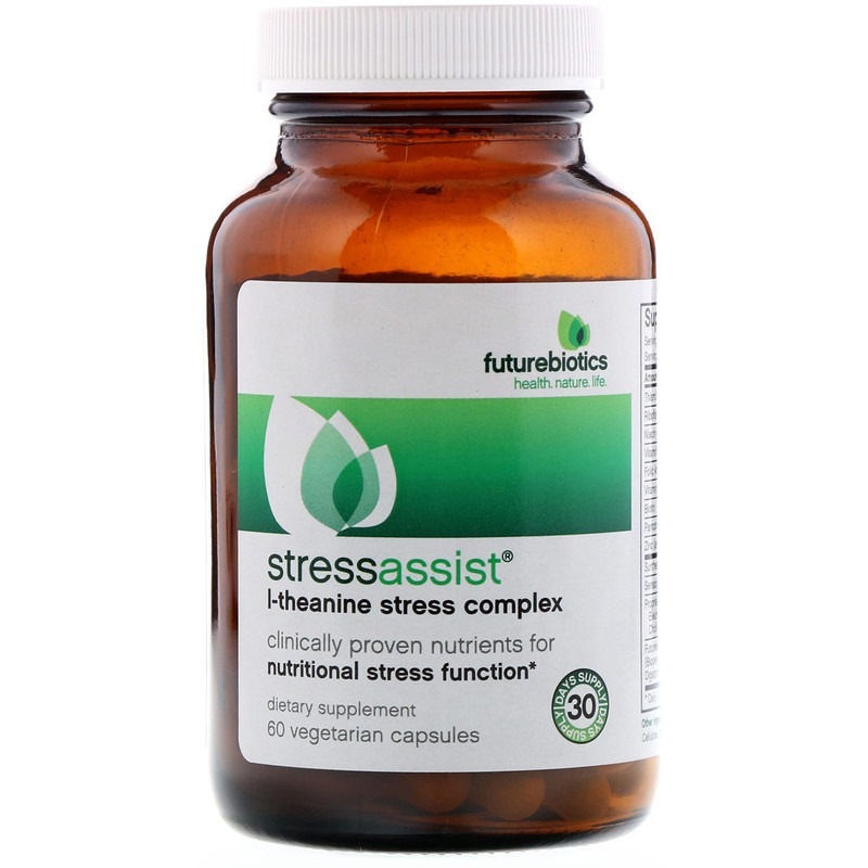 FutureBiotics, Stressassist, L-Theanine Stress Complex, 60 Vegetarian Capsules