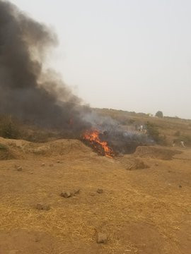 Breaking: Military aircraft crashes in Abuja (Watch video)