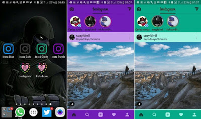 Download Dual Instagram2 Mod Apk Color Clone Tema Android
