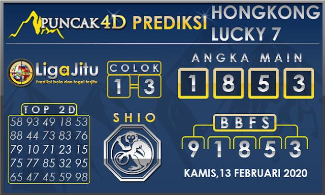 PREDIKSI TOGEL HONGKONG LUCKY7 PUNCAK4D 13 FEBRUARI 2020