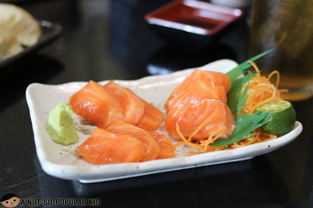 Salmon Sashimi of Hana Restaurant, Laguna