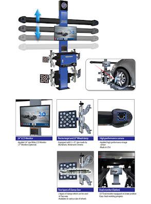 Máy kiểm tra và tích hợp điều chỉnh góc đặt bánh xe 3D