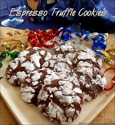 Espresso Truffle Cookies are a perfect holiday treat, whether for home, a cookie exchange or to give out as gifts from the heart. | Recipe developed by www.BakingInATornado.com | #recipe #cookies