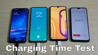 Redmi Note 8 vs Realme X vs Samsung Galaxy M30s Charging Time Test