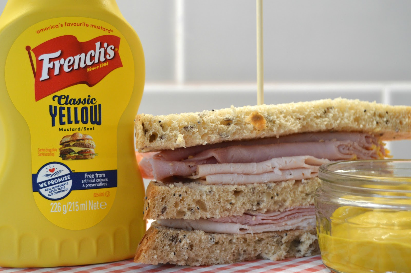 Club Sandwich and French's Mustard