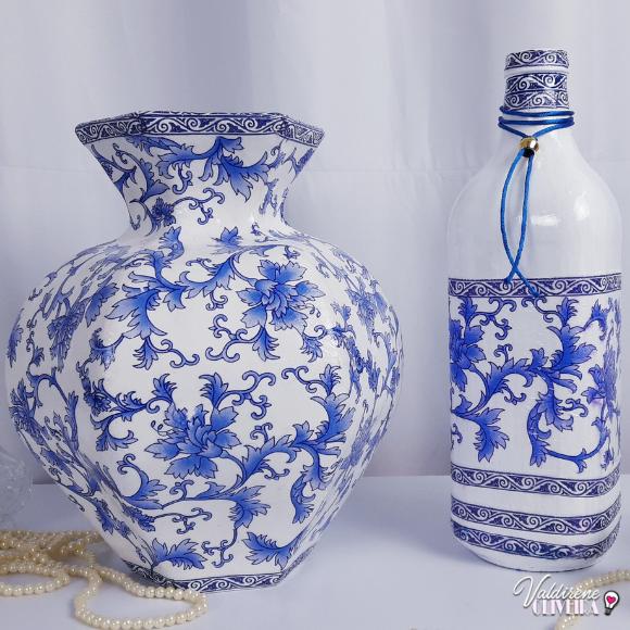 vasos decorativo feito com caixa de leite -valdirene oliveira