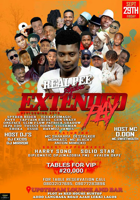 EVENT: REAL PEE AJABA EXTENDED PLAY | BE THERE