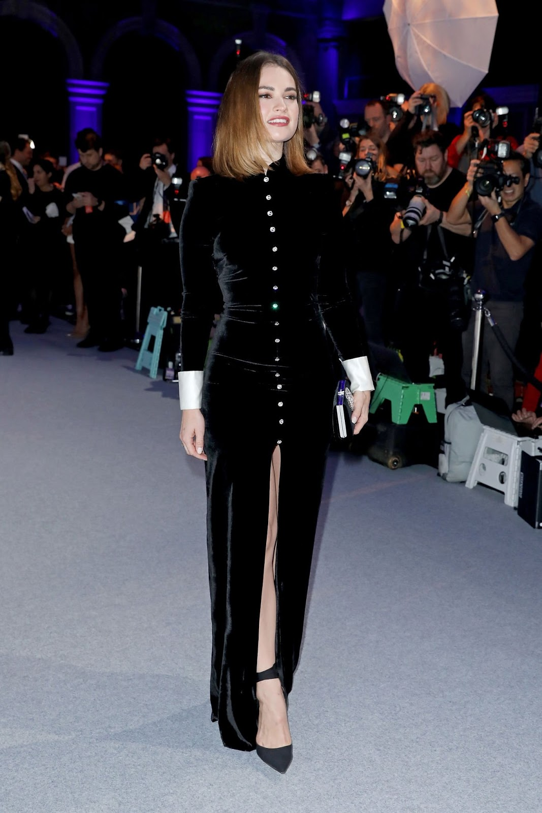 Lily attending the 22nd British Independent Film Awards at Old Billingsgate in London