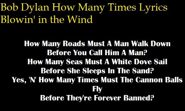 Bob Dylan How Many Times Lyrics