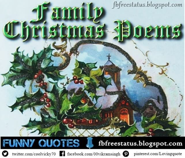 Family Christmas Poems, Christmas Poems for family