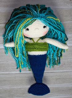 Free mermaid crochet pattern