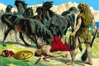 mito de hercules heracles las yeguas de diomedes