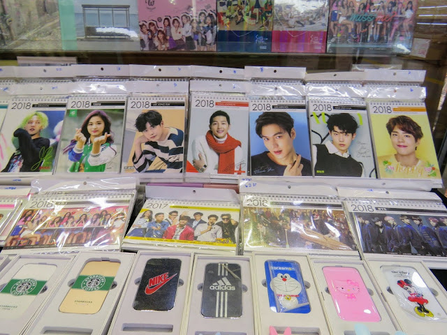 K-Pop merchandise for sale in Seoul South Korea