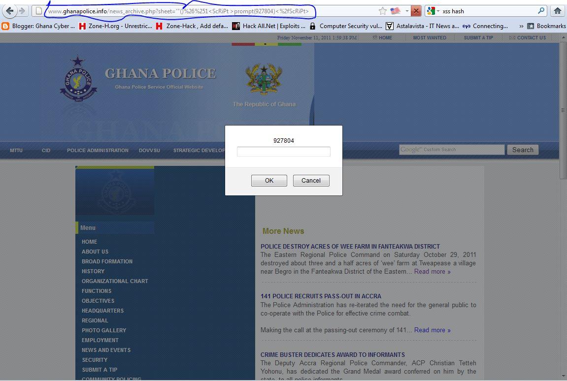 Vuln Pertamina Official Site: Ghana Cyber Army (Ghana Hacker Team): Ghana Police Website