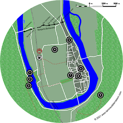 Map of Cahors.