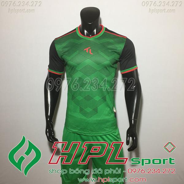Áo bóng đá không logo TL HML Xabi  màu xanh lá