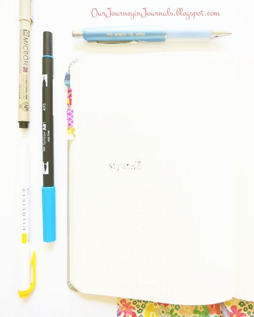 back of rhodia webnotebook pen test page