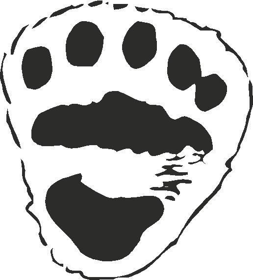 Polar bear paw print template search results calendar 2015 for Bear footprints template