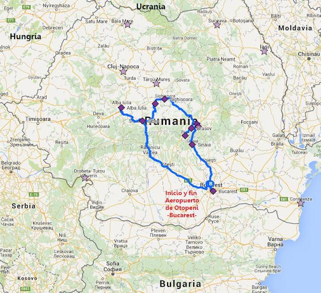 Mapa de ruta Rumanía