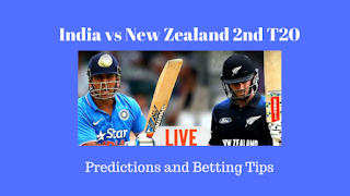 India vs New Zealand 2nd T20 Predictions and Betting Tips for Today Match