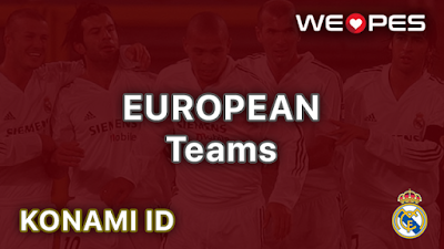 Konami ID | European Teams | PES 2020