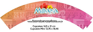 Moana Baby  Free Printable Cupcake Wrappers.