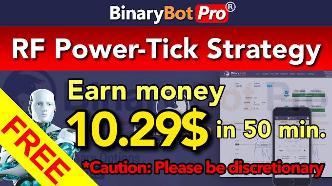 RF Power-Tick Strategy | Binary Bot Pro