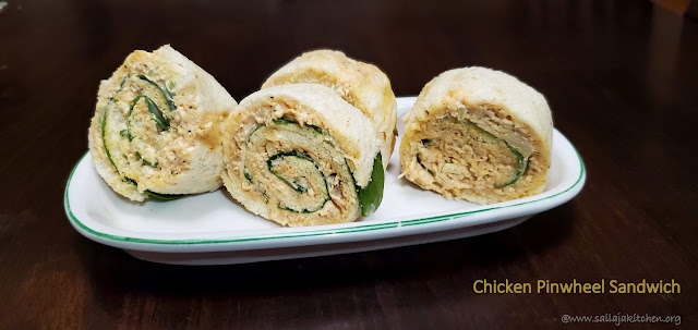 images of Chicken Pinwheel Sandwich / Chicken Sandwich - Easy Kid's Lunch Box Recipes