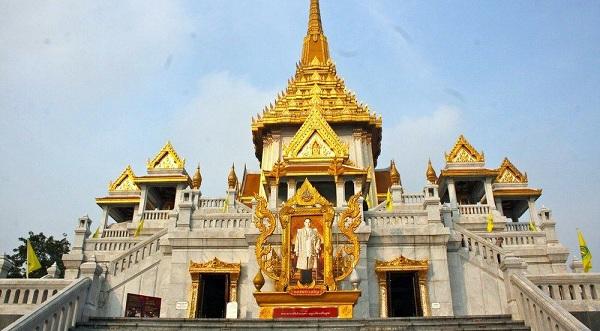 Wat Traimit sở hữu kiến trúc hoành tráng, ấn tượng