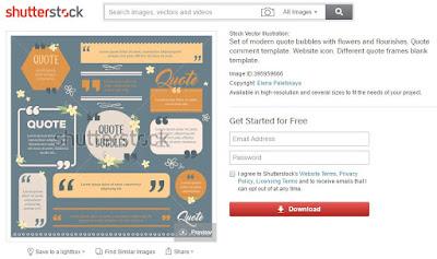 Penulis Butuh Desain Kece Buat Quote, Beli di Shutterstock Dong!