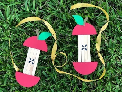 Popsicle Stick Apples by When Is Dinner