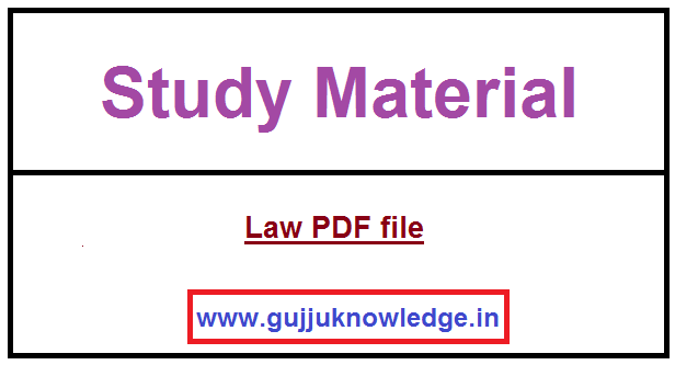 Law PDF file important for PSI & Constable.