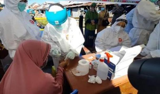 Hasil Rapid Test Pedagang Di Makassar 204 Orang Reaktif Dan Terindikasi Positif COVID-19