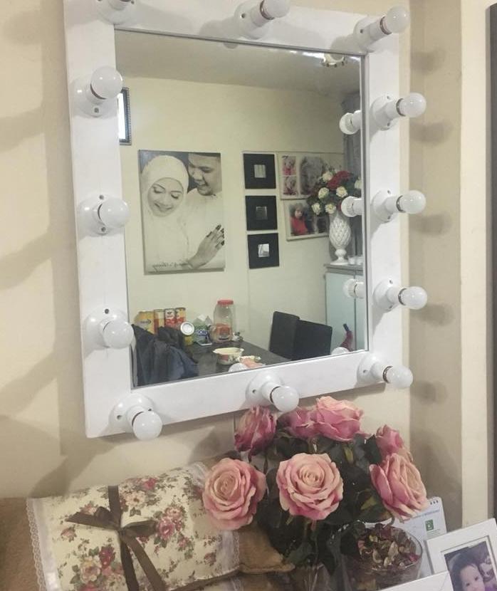 DIY Cermin Viral 'Vanity Mirror' Daripada Kayu Katil Yang ...
