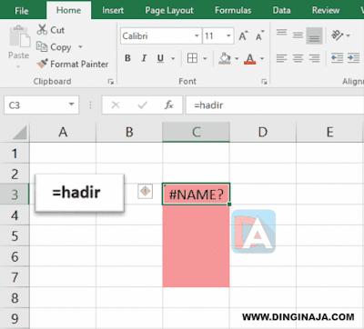 Cara MenulisTanda = + - di Excel
