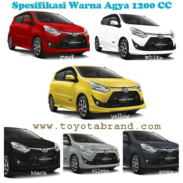 Warna New Agya Trd Kijang Innova Spesifikasi Resmi Ditetapkan Harga 1 2 L Surabaya April 2017 1200 Cc