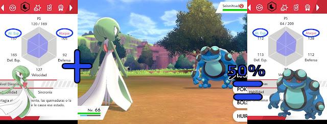 Gardevoir Seismitoad Sincronía naturaleza habilidad Pokémon Espada Escudo