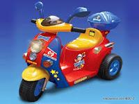 Motor Mainan Aki Junior QX7366 Skupi in Blue Red